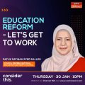 Education Reform – Challenges and Opportunities: An Interview with Astro Awani