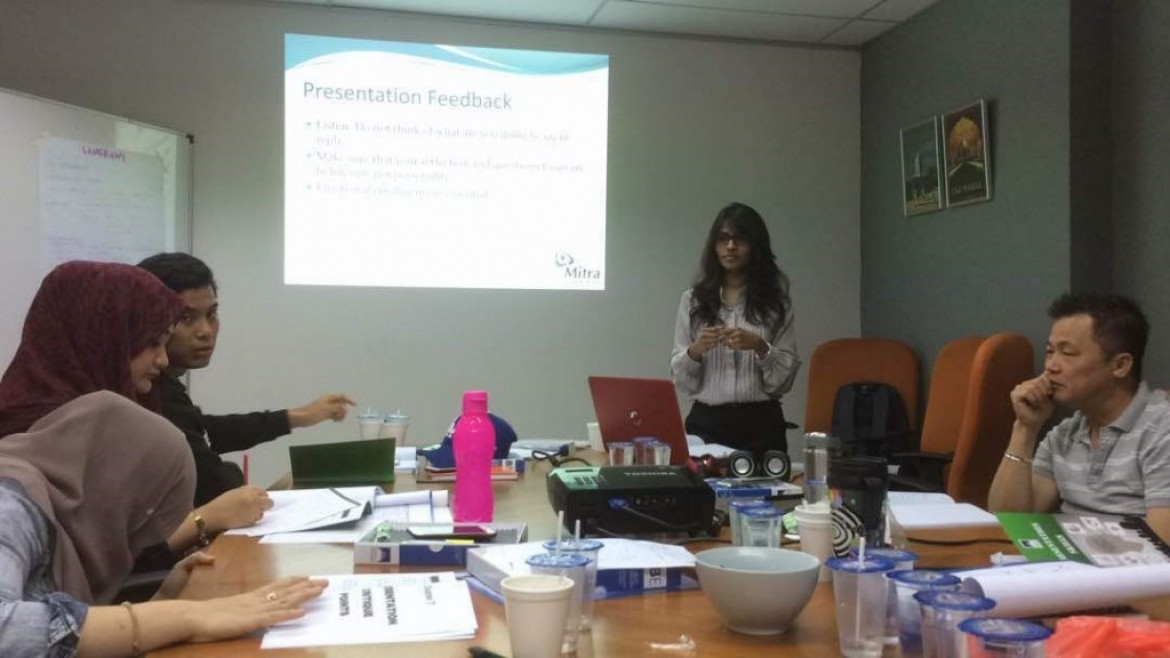 Direct English Training with Mitra